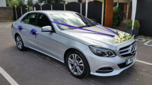 mercedes-benz-wedding-car-parked-purple