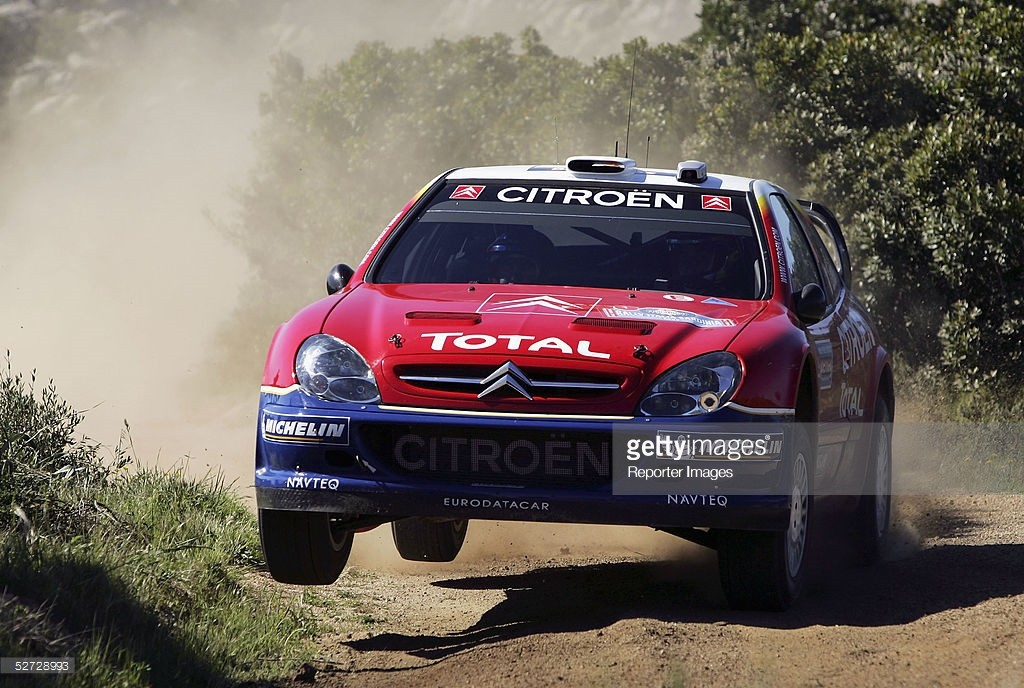 Sebastien Loeb - Daniel Elena (F), Citroen Xsara WRC, Citroen Total, A/8, Supermag Rally Italia Sardinia, Shakedown, Thursday, 28 April 2005. Photo by: Reporter Images