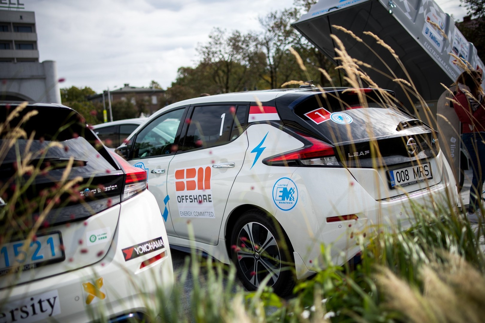Nissan LEAF powers marathon across Europe